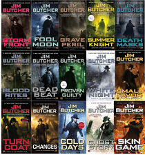 Dresden Files Collection Set 1-15 Adult Fantasy Fiction Books Series Jim Butcher