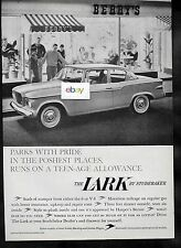 STUDEBAKER LARK 6 OR V8 RUNS ON A TEEN-AGE ALLOWANCE SODA FOUNTAIN 1959 AD