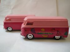 Sunnyside VW BUS Diecast 1:32 3VWS7 SS5403 LIGHT/DARK PINK-LOGO-NO REAR BUMPER