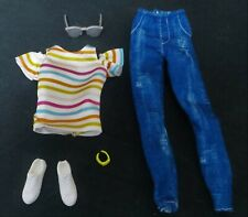 BARBIE Fashionistas Wheelchair Doll OUTFIT Only-Clothes,Watch,Glasses,Shoes-MINT
