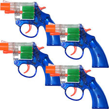 4 Colored Cap Gun Toy Pistol Revolver Police Colt 45 Fire 8 Ring Caps