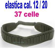 cartucciera cartuccera elastica 12/20 caccia cinturone porta cartucce  cordura