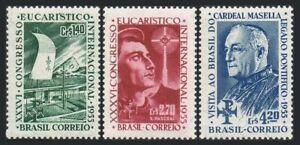 Brazil 825-827,hinged.Mi 881-883. Eucharistic Congress,1955.St Pascoal,Masella.