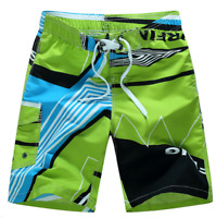 US Mens Boy Beach Shorts Summer Printing Surf Runner Board Swim Wear Short Pants