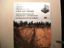 Buch -- Siegerland, Westerwald,Lahn u.Taunus  - Geologie , Mineralogie u.Pal.