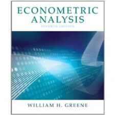 Econometric Analysis (7th Edition) by Greene, William H.