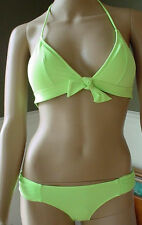 VERY SEXY Victoria's Secret Swimsuit Green Halter side rushed BIKINI XS NEW