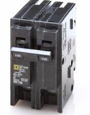 New Circuit Breaker Homeline Square D HOM2100C 2 Pole 100 Amp 120/240V Brand New