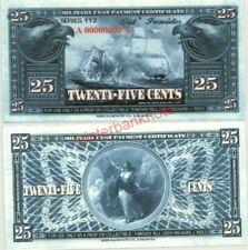 SERIES 112 USS CONSTITUTION 25c SPECIMEN FANTASY ART MILITARY PAYMENT CERT!