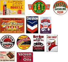 o scale vintage, weathered gas station decals/ 12 Decals