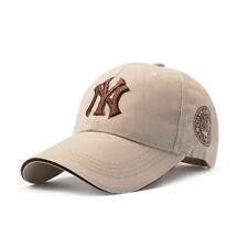 Khaki Unisex Men Women Baseball Cap Adjustable NY Snapback Sport Hip-Hop Sun Hat
