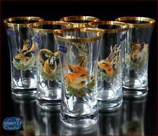 "Bohemia Glass Water Glasses 16 cm, 250 ml, ""Royal Hunt"" 6 pc New!"