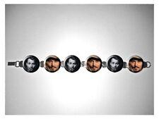 Johnny Depp A Edward Scissorhands Sweeney Todd 8 inch bracelet w/fold over clasp