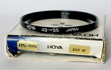 Hoya 49-55mm step up ring, in box.
