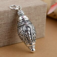 925 Sterling Silver  memorial Cremation Jewelry CASKET Ash Pendant Urn P719