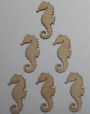 Seahorse unfinished wood cutouts (6 pieces)