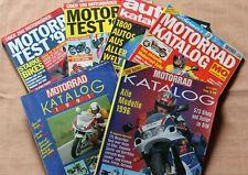 5 Motorradkataloge + 1 Autokatalog