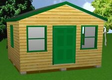 16x16 Storage Shed Plans Package, Blueprints, Material List & Instructions