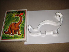 "Vintage Metal Brontosaurus Cookie Cutter 7 1/2"" with Box 1987 Made in Usa"