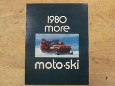 Vintage 1980 Moto Ski Snowmobile Brochure Full Line NICE