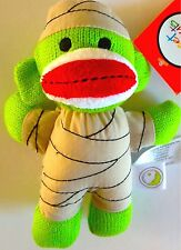NEW! Halloween Mummy Sock Monkey Plush Doll w Hat & Costume!~ Ages 0 +
