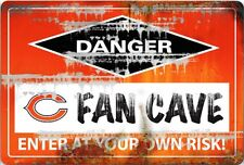 NFL CHICAGO BEARS FAN CAVE SIGN
