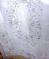 Piña Banquet Cloth Hand Embroidered Linen Tablecloth Antique Vintage Wedding