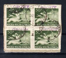 Polen Briefmarken 1950 Groszy Aufdruck T4 Zentaur Mi.Nr. 588 4x geprüft