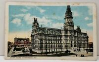 Court House Indianapolis Indiana to John D. Hershey Lancaster 1928 Postcard A4