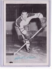 """MICHEL """"MIKE"""" LABADIE SIGNED QUEBEC ACES AUTOGRAPH PHOTO NHL 1952-53 NY RANGERS"""
