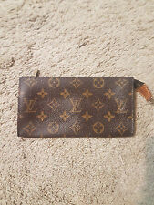 LOUIS VUITTON Bucket GM Monogram Pouch Cosmetic Case Bag Clutch Holder Brown ~y