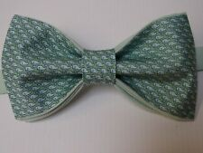 Custom Mens Bow Tie All over Whale Pre-tied Adjustable Handmade Green/Blue Gift