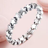 Stern Ring Damen Fingerring Silber Ringe Unendlich Schmuck Geschenk Fingerring