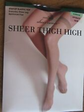 east5th Thigh Highs Sheer Caress Sandalfoot Sz Average Nip