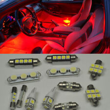 18 x Red LED interior Bulbs + License Plate Lights for Dodge Charger 2011-2016
