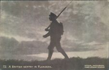 Postcard WW1 A British sentry at Flanders  Daily Mail pictures No72
