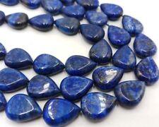 Natural 13x18mm Egyptian Lapis Lazuli Teardrop Gemstone Bead 15'' AAA