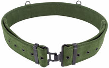 NEW British Army Style 1958 58 Pattern Heavy Duty Green Canvas Webbing Belt