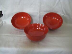 Antique Japanese Meiji Period Lacquer Bowl Set of 4