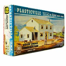 Plasticville HO House Under Construction New 2803-149 Model Train Building