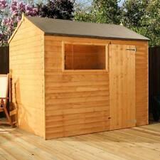 8x6 Wooden Garden Sheds 8ft X 6ft Un Apex Wood Shed Single Door Window