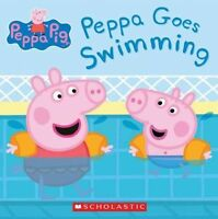 Peppa Pig: Peppa Goes Swimming by Scholastic, Acceptable Used Book (Paperback) F