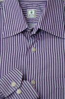 Peter Millar Men's Purple & White Stripe Cotton Casual Shirt L Large