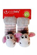 Kindersocken Socken Frottee Babysocken Unisex Söckchen Rassel Tiere rot
