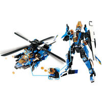 448pcs 2in1 Technic Helicopter Model Building Blocks with Figures Toys Bricks
