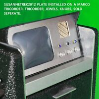 """Star Trek TOS, Marco 1/16"""" Tricorder Face-Plate, All Small Jewel Hole Type"""