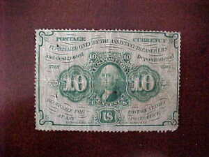 1862 - FIRST ISSUE - FRACTIONAL CURRENCY - 10 CENT POSTAGE CURRENCY