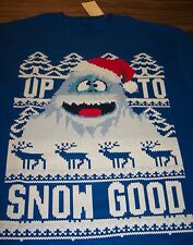 Rudolph The Red-Nosed Reindeer Bumble The Abominable Snowman T-Shirt Medium New