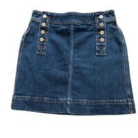 Loft Denim Skirt Button Size 00 Petite Buttons