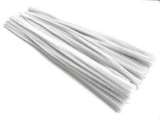"""New 200pc 12"""" White Long Chenille (Pipe & Gun Cleaner) 6mm Stems"""